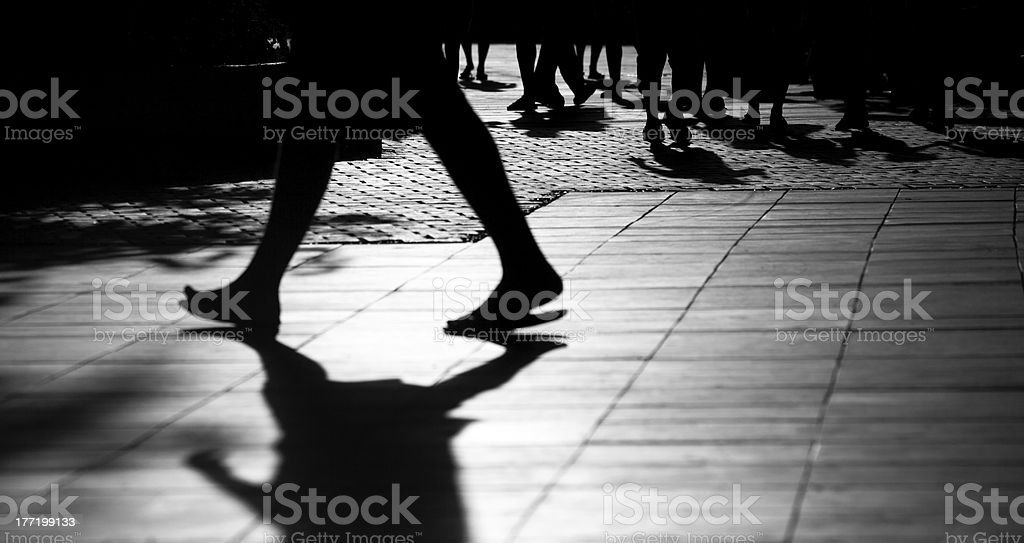 Shadows on the street royalty-free stock photo