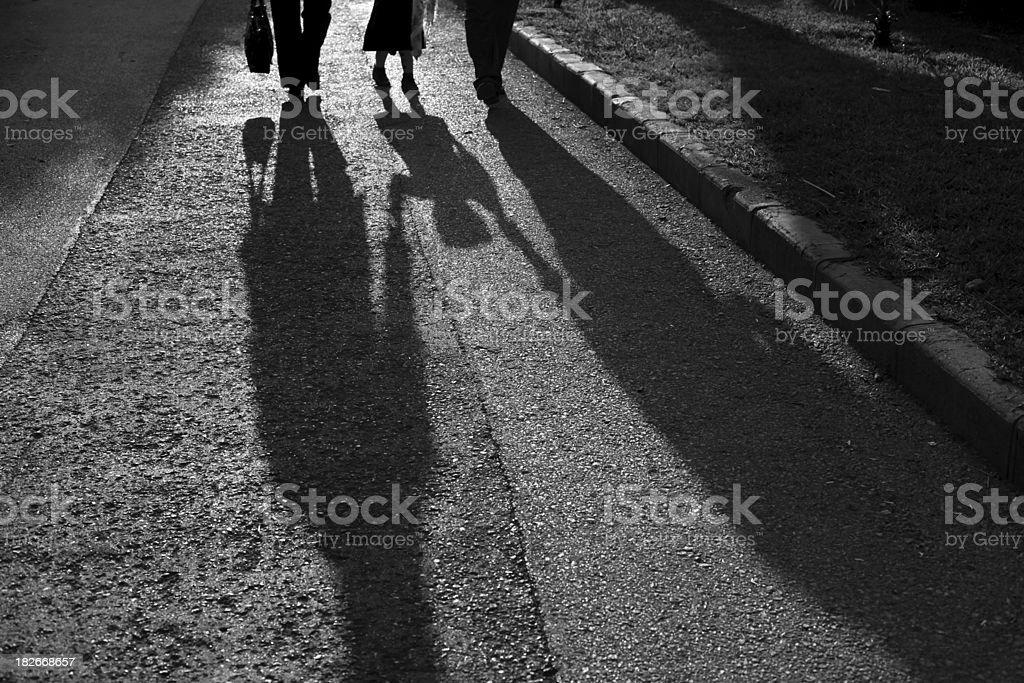 Shadows on the street royalty-free stock photo
