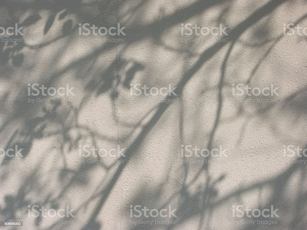 shadows on the wall stock photo