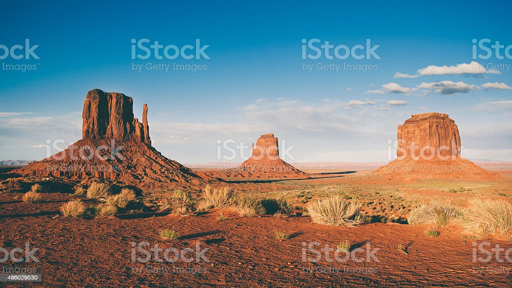 Shadows over Monument Valley stock photo