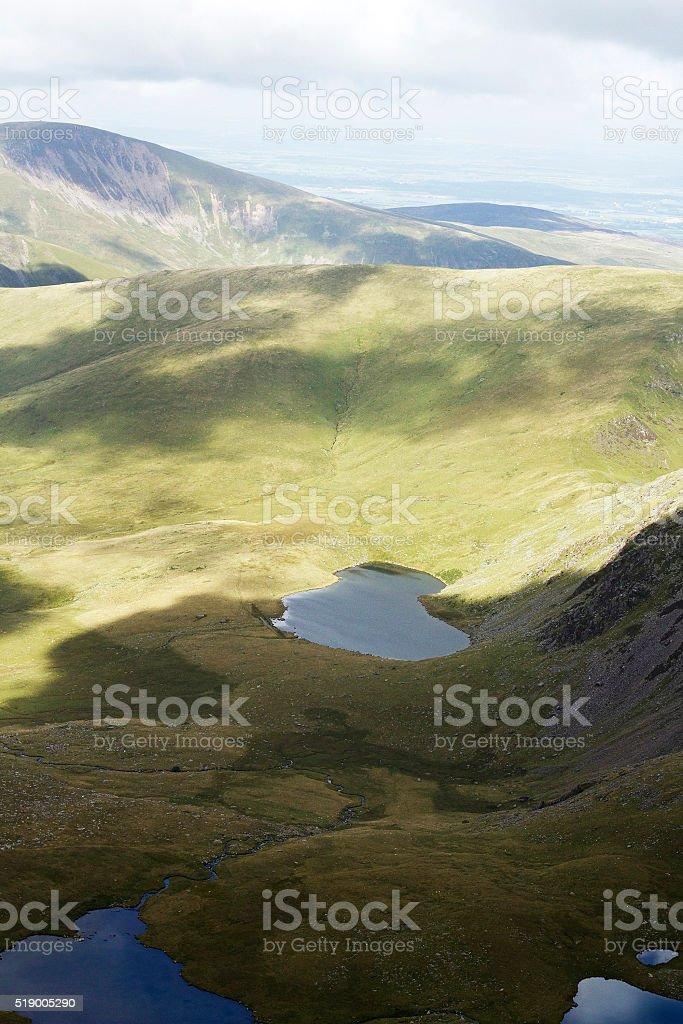 Ombre di Snowdonia, Galles foto stock royalty-free