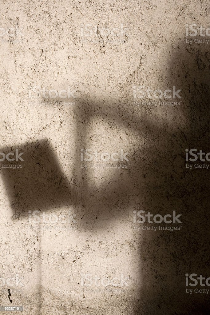 Shadowviolinist royalty-free stock photo