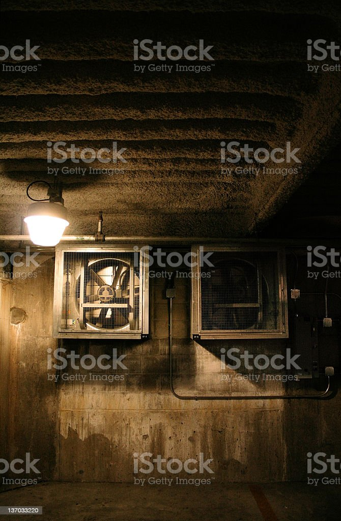 shadowy fans stock photo
