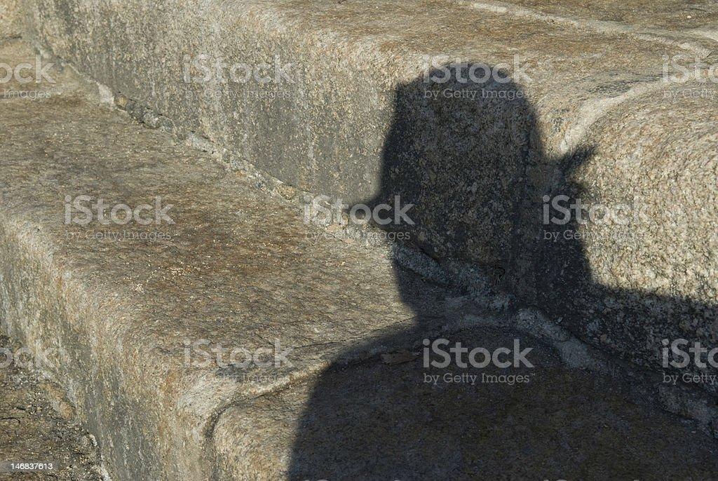 shadowy figure stock photo