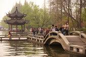 shady bower  on lake Xi hu