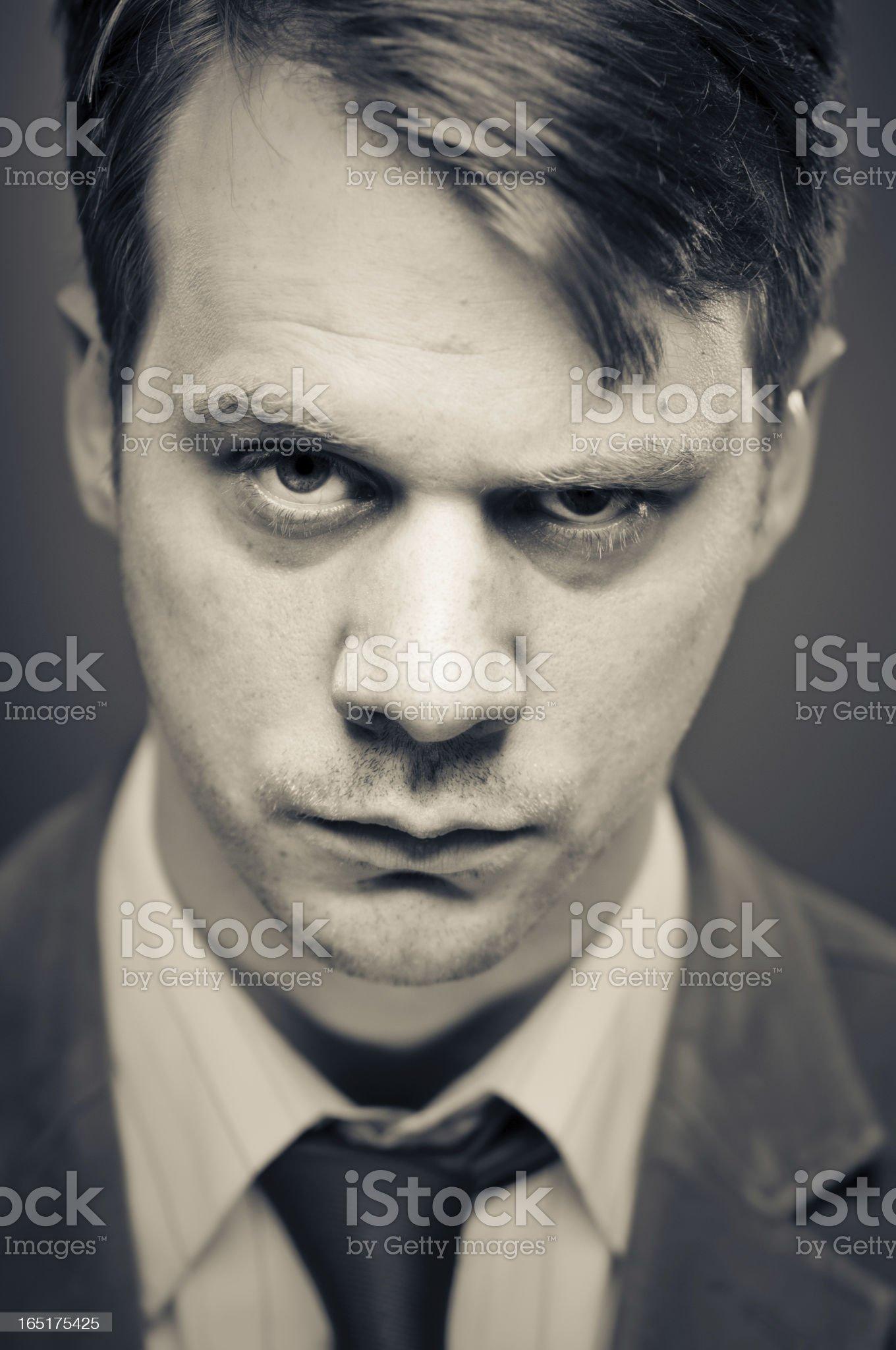 Shady Character Portrait royalty-free stock photo