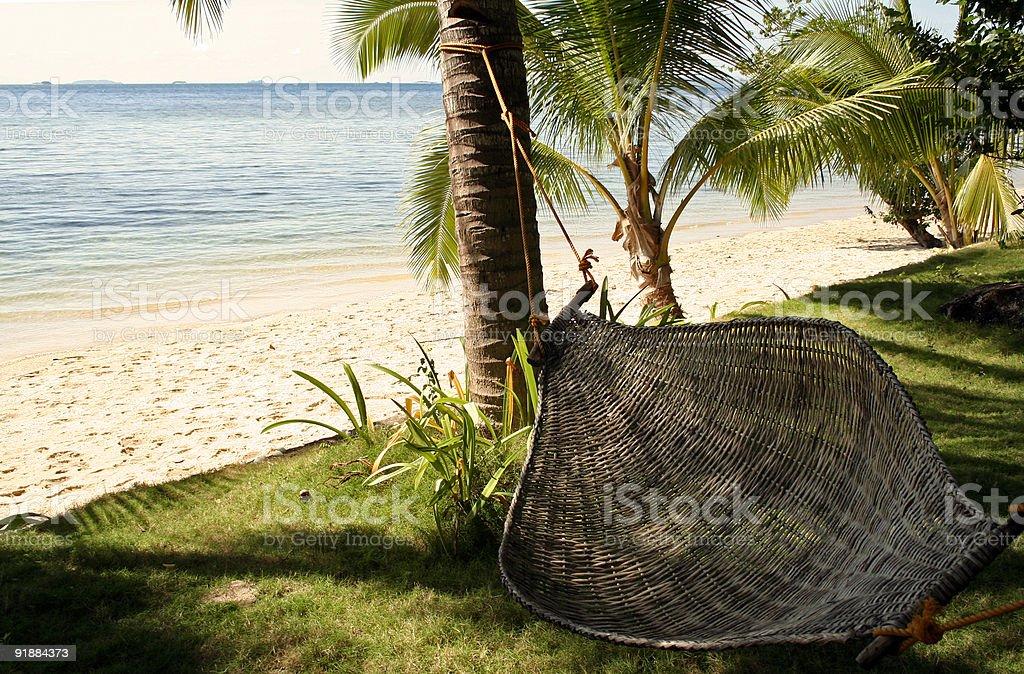 shady hammock tropical beach vacation royalty-free stock photo
