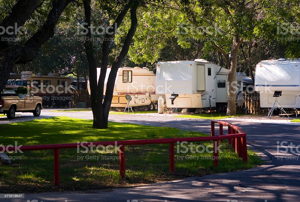Shady RV Park stock photo