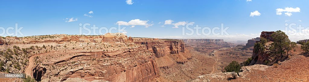 Shafer Canyon, Canyonlands, Moab, Utah, USA stock photo