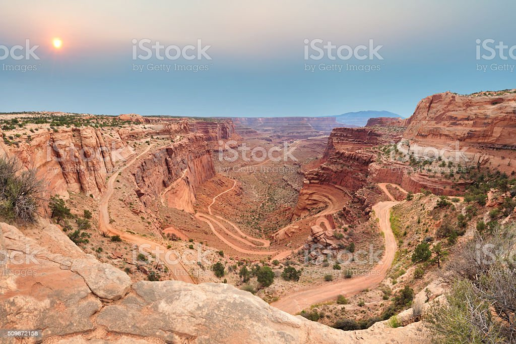 Shafer Trail Road stock photo