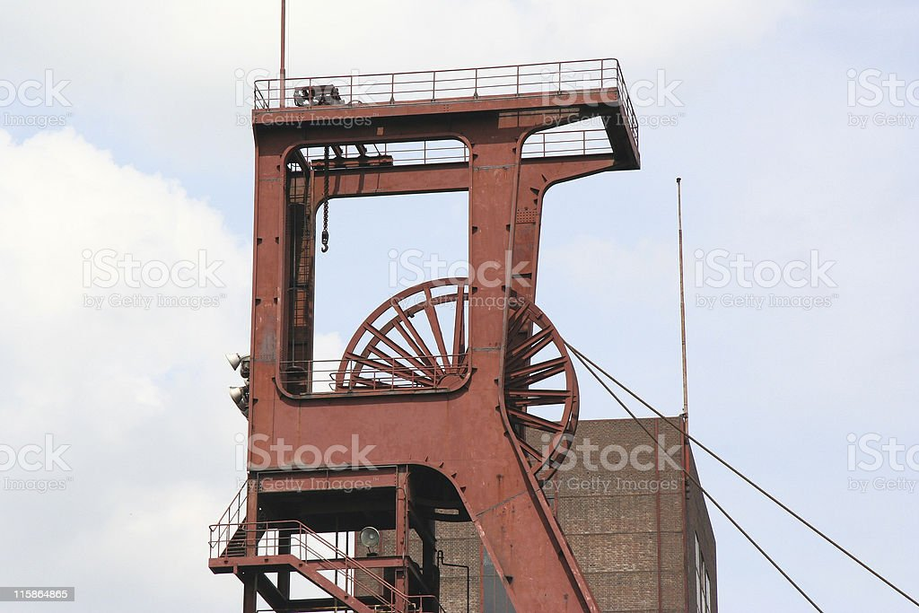 Shaft 1/2/8 of the Coal-Mine Zollverein royalty-free stock photo