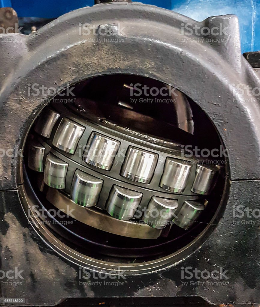 Shaft and bearing stock photo