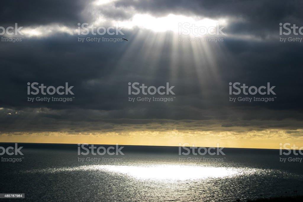 Shaft of Light stock photo