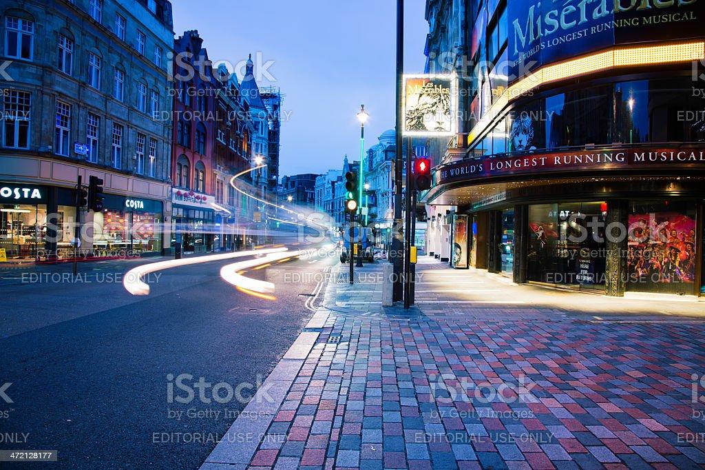 Shaftesbury Avenue London UK at dawn stock photo