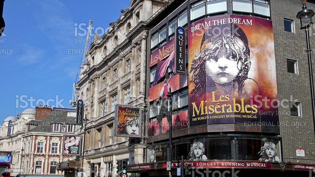 Shaftesbury Avenue. London. United Kingdom stock photo