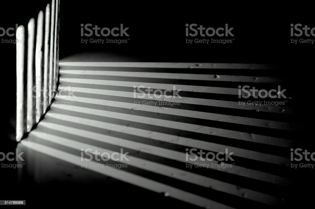 Shafts of electric light - rays of light stock photo
