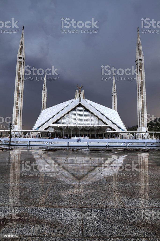Shah Faisal Mosque Islamabad Pakistan HDR stock photo