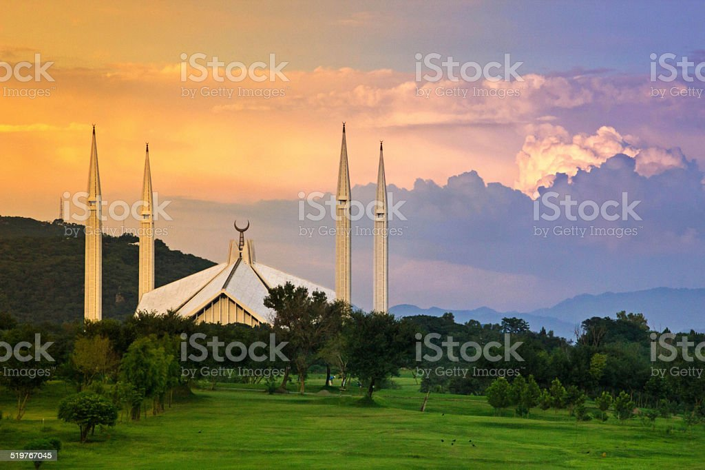 Shah Faisal Mosque Islamabad-Pakistan stock photo