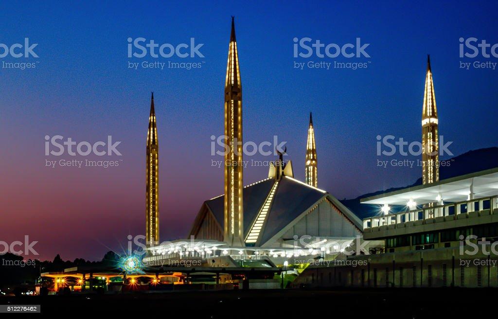 Shah Faisal Mosque stock photo