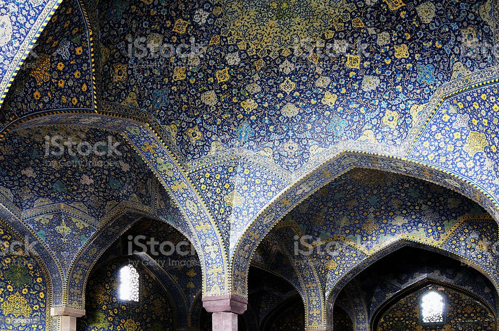 Shah Mosque, Isfahan, Iran royalty-free stock photo