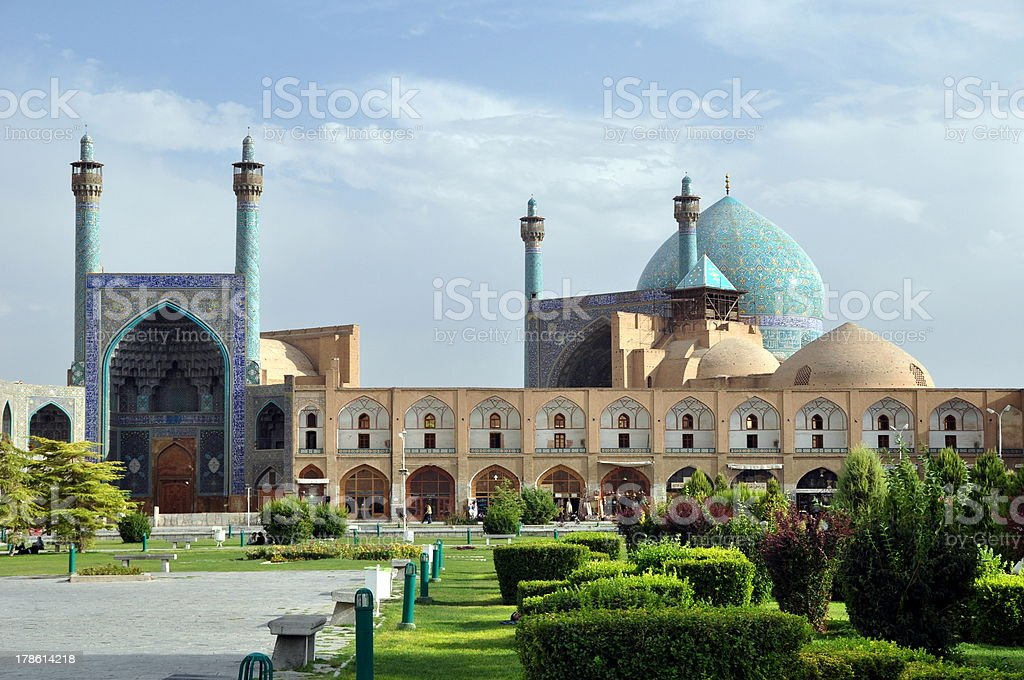 Shah Mosque stock photo