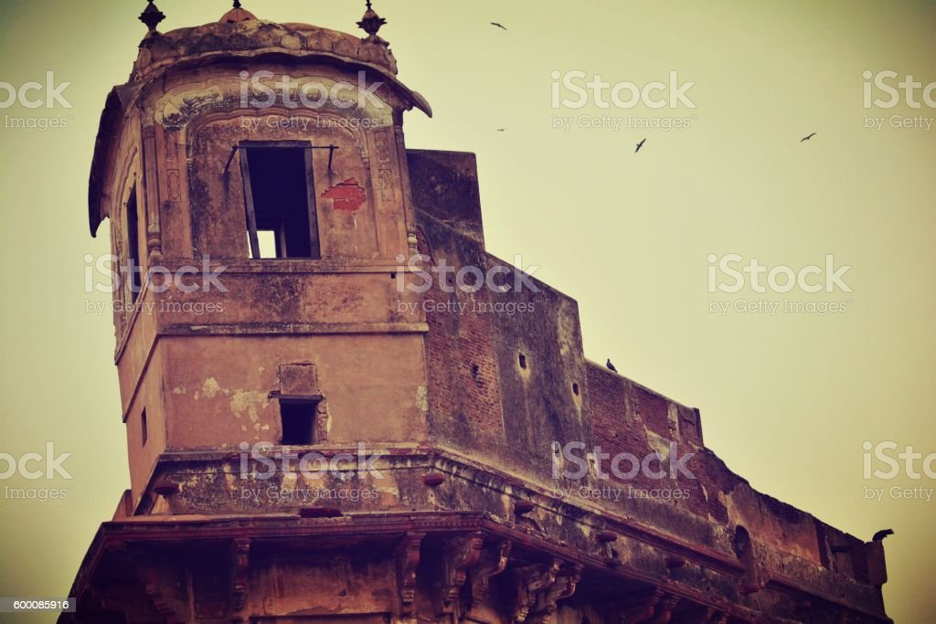 shahi qila old place looks honted stock photo