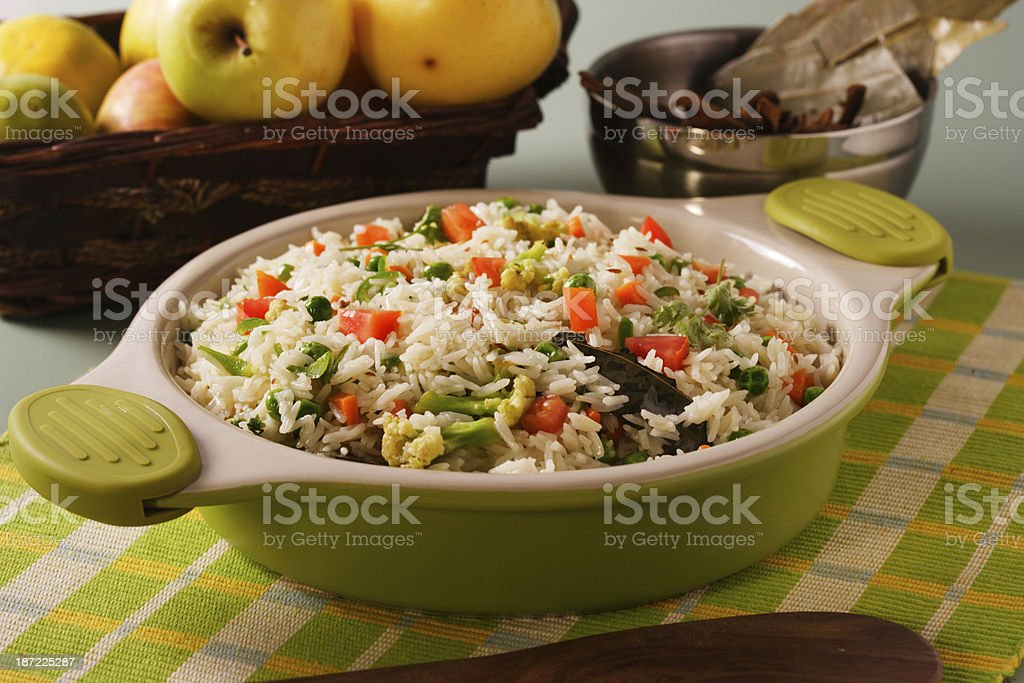 Shai Pulao or Vegetable Rice royalty-free stock photo