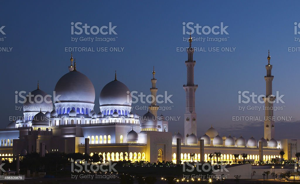 Shaik Zayed Grand Mosque royalty-free stock photo