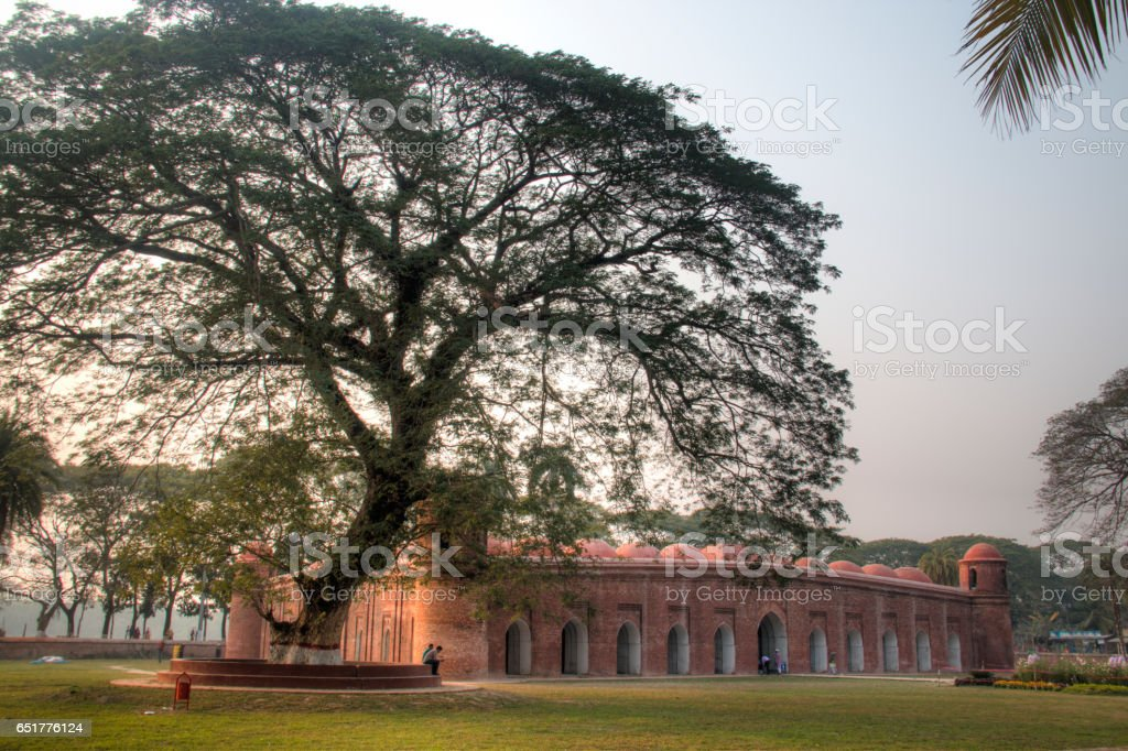 Shait Gumbad Mosque in Bagerhat, Bangladesh stock photo