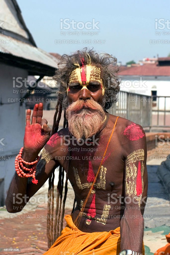 Shaiva sadhu stock photo