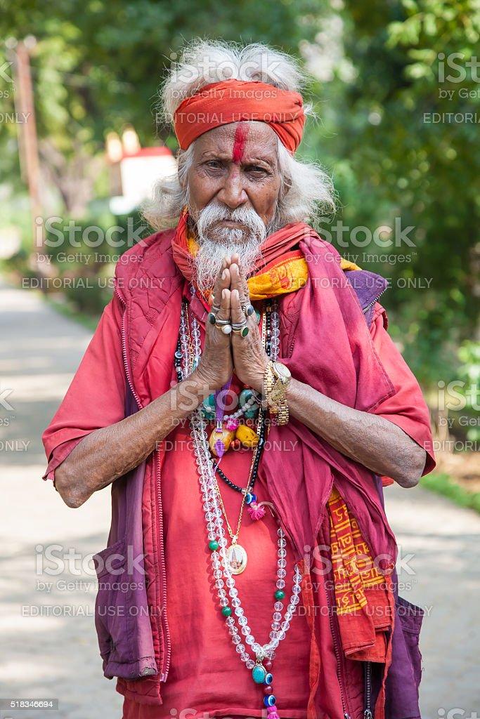 Shaiva sadhu (holy man) stock photo