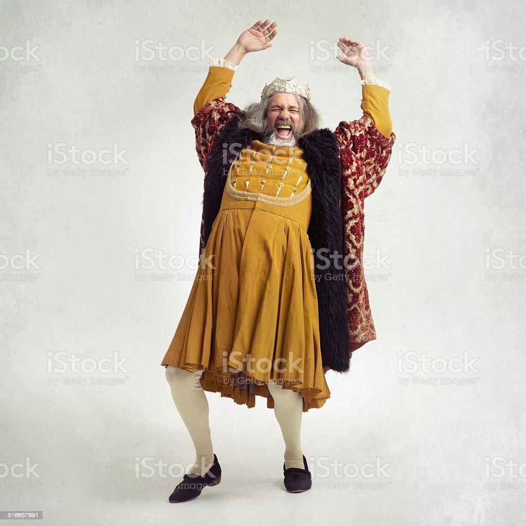 Shake like you're royalty stock photo