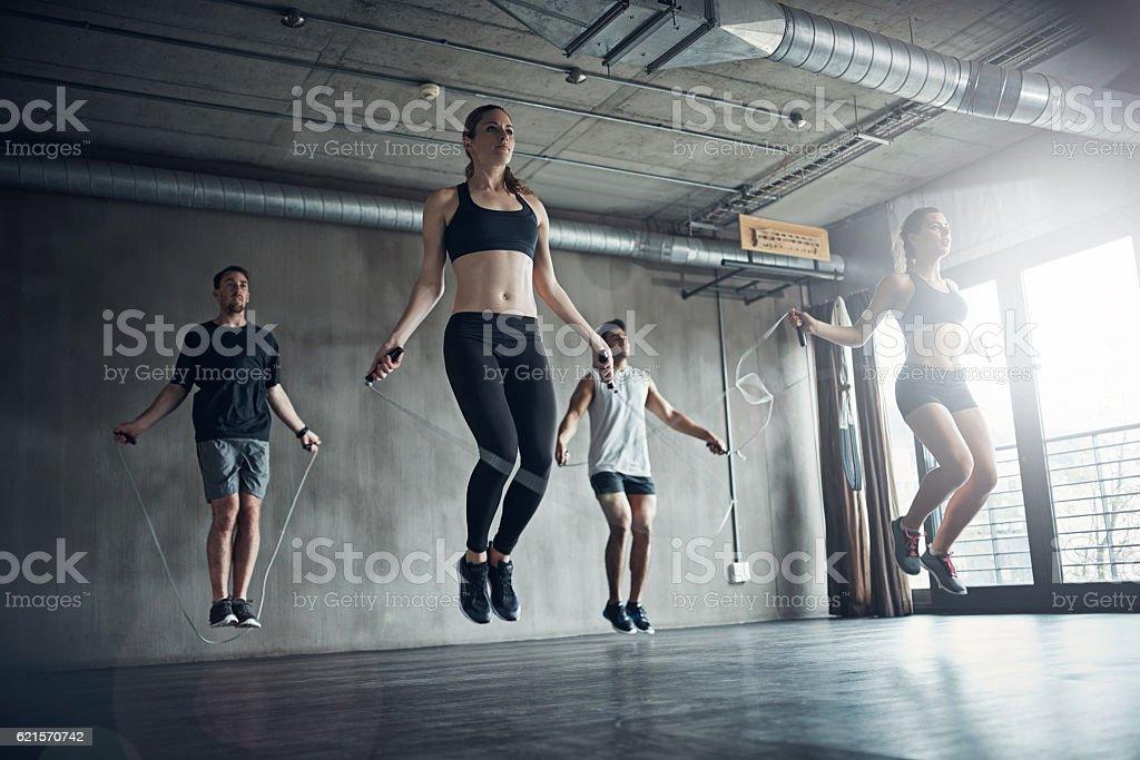Shake off the laziness stock photo