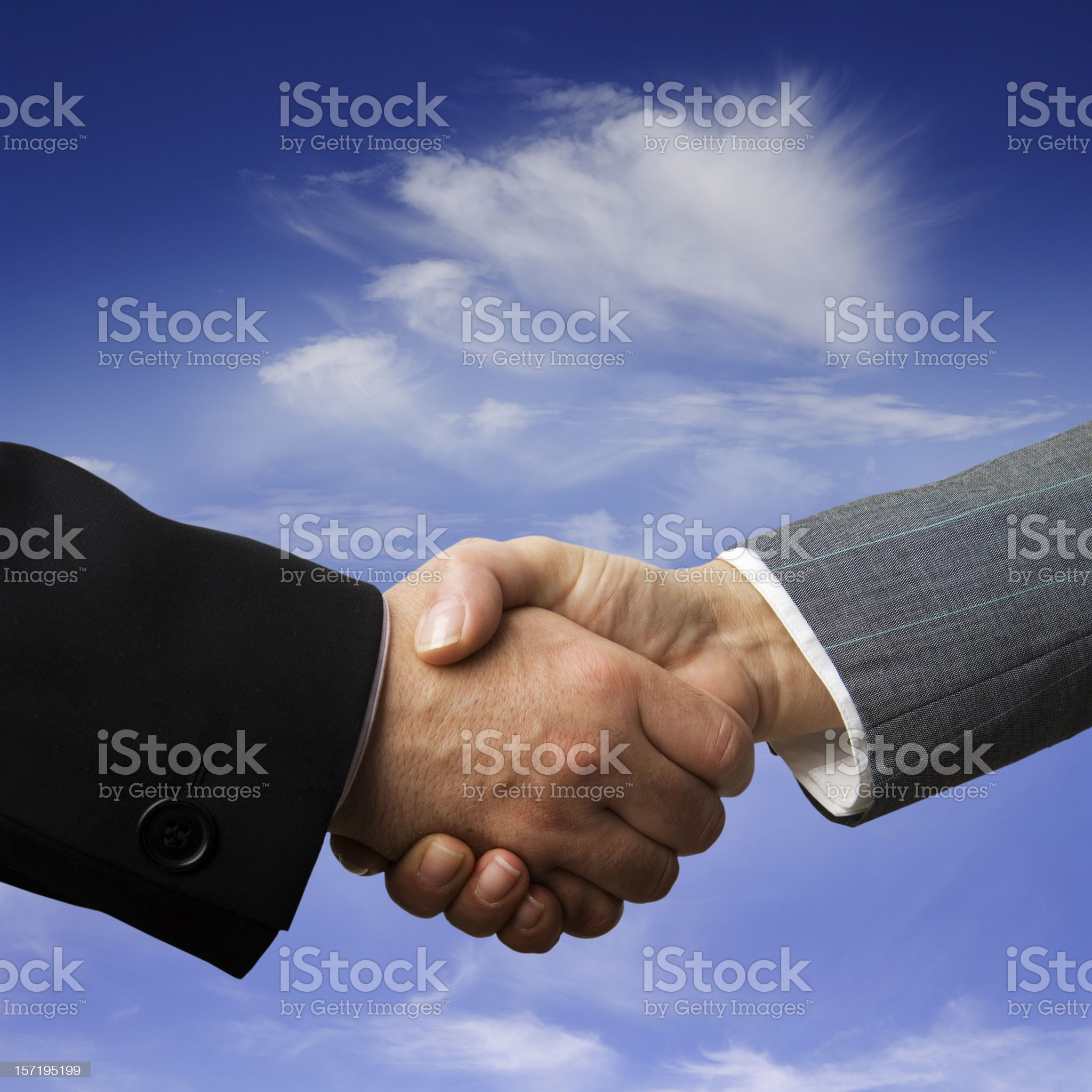Shake on a deal royalty-free stock photo