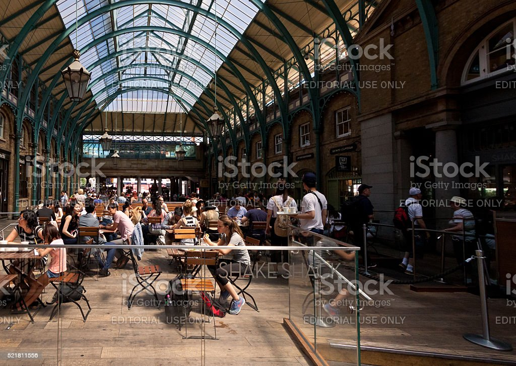 Shake Shack Restaraunt at Covent Garden market, London, England, UK. stock photo