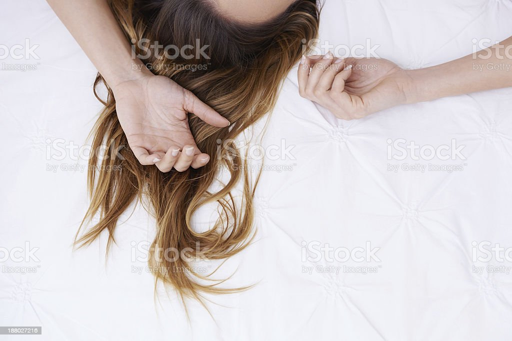 Shake the dreams from your hair... stock photo
