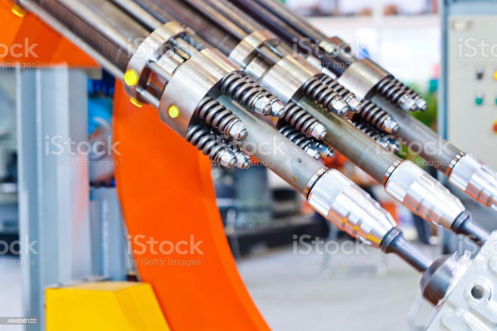shakeout machine working stock photo