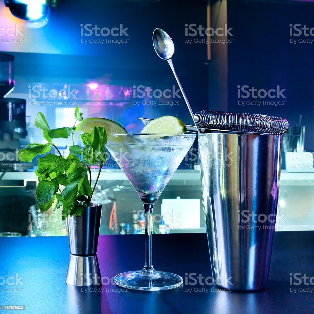Shaker and bar inventory stock photo