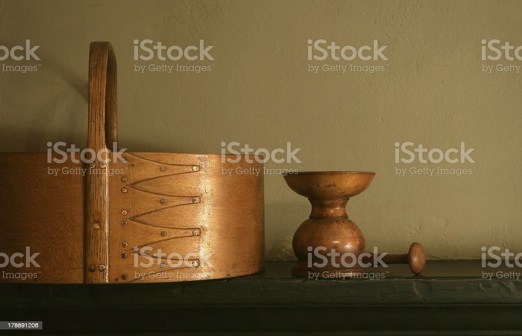 Shaker carrier, sander, and peg. royalty-free stock photo