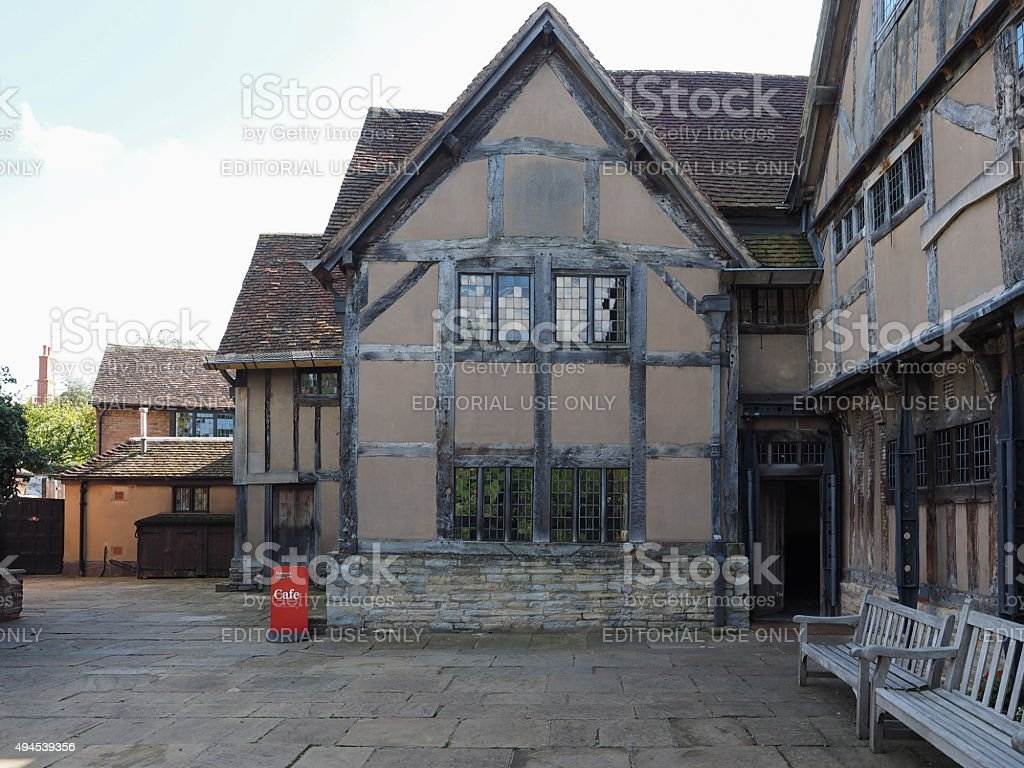 Shakespeare birthplace in Stratford upon Avon stock photo