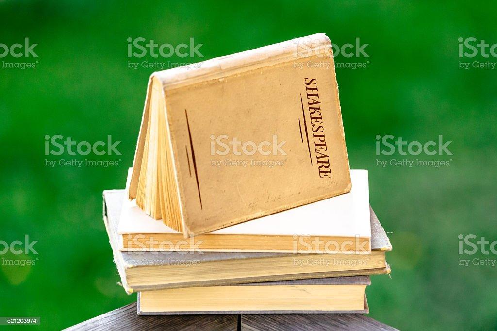 Shakespeare Books Piled Up stock photo