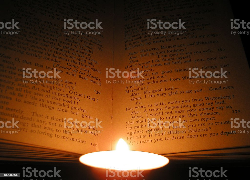 Shakespeare by Candlelight royalty-free stock photo