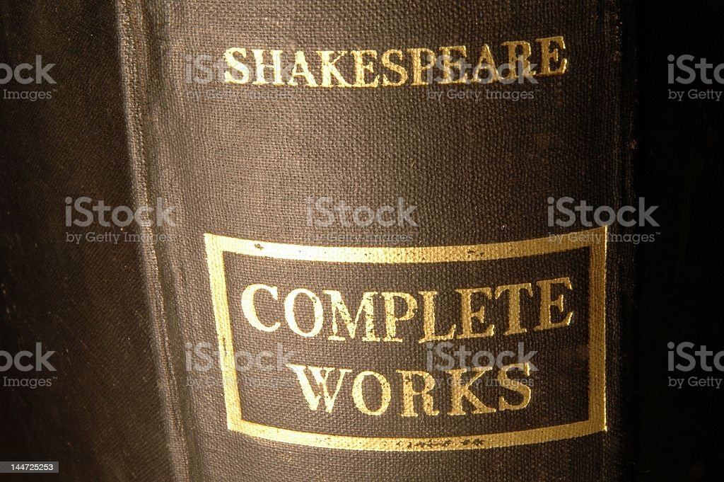 Shakespeare complete works stock photo