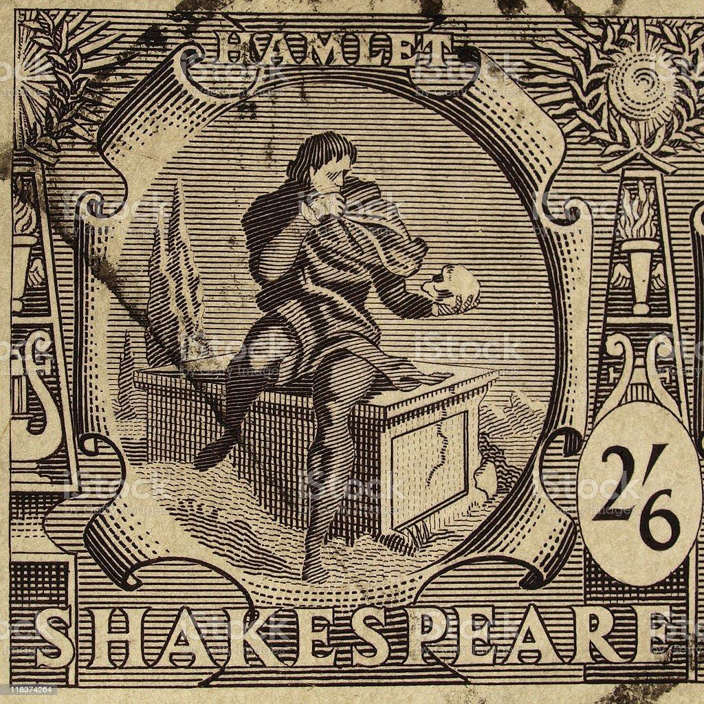 Shakespeare Festival Stamp stock photo