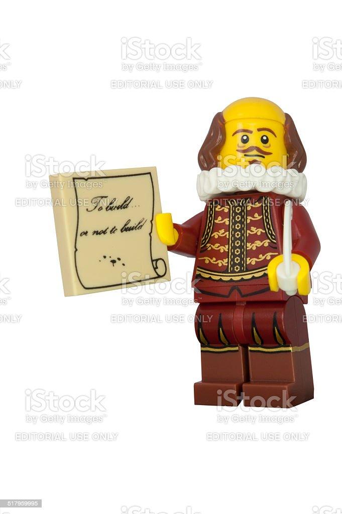 Shakespeare Lego Minifigure stock photo
