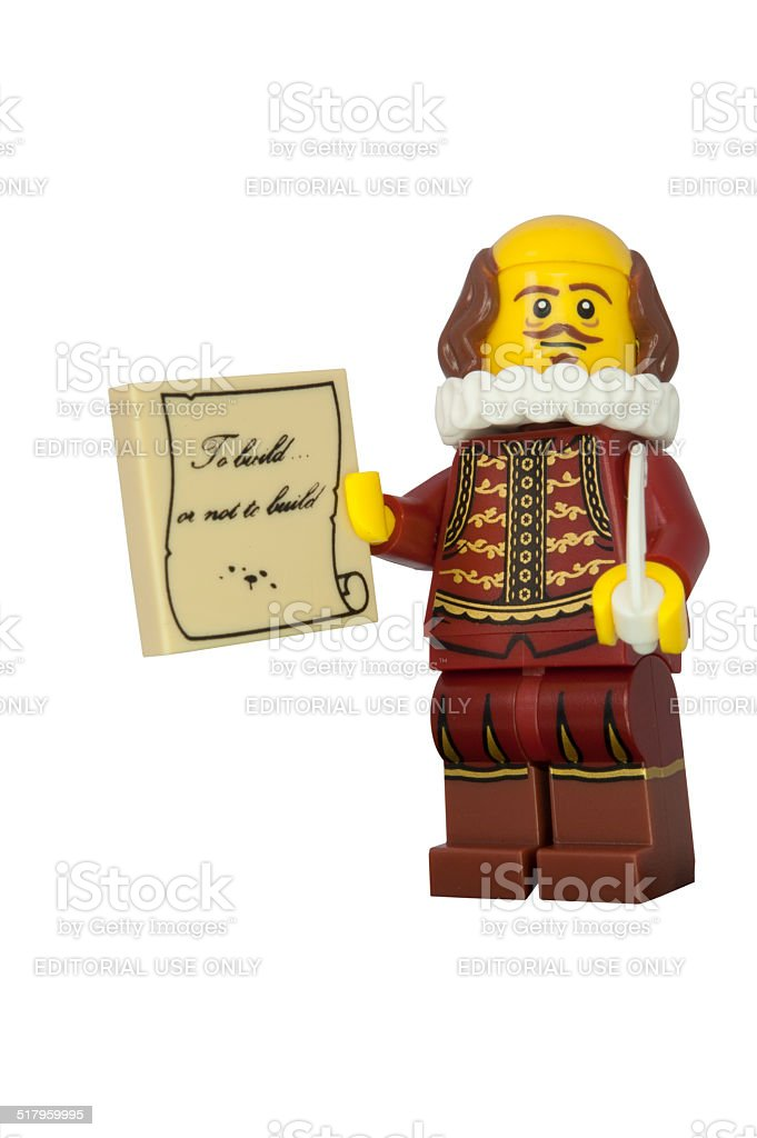 Shakespeare Lego Minifigure stock photo