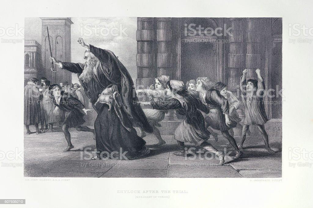 Shakespeare - Merchant of Venice stock photo