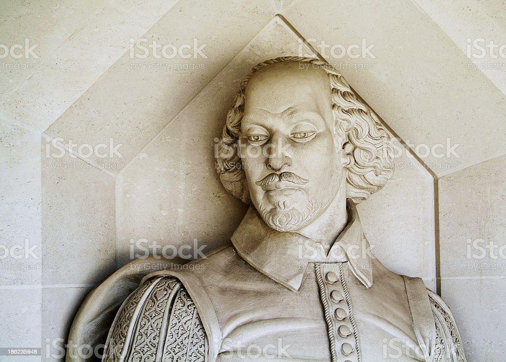 Shakespeare monument stock photo