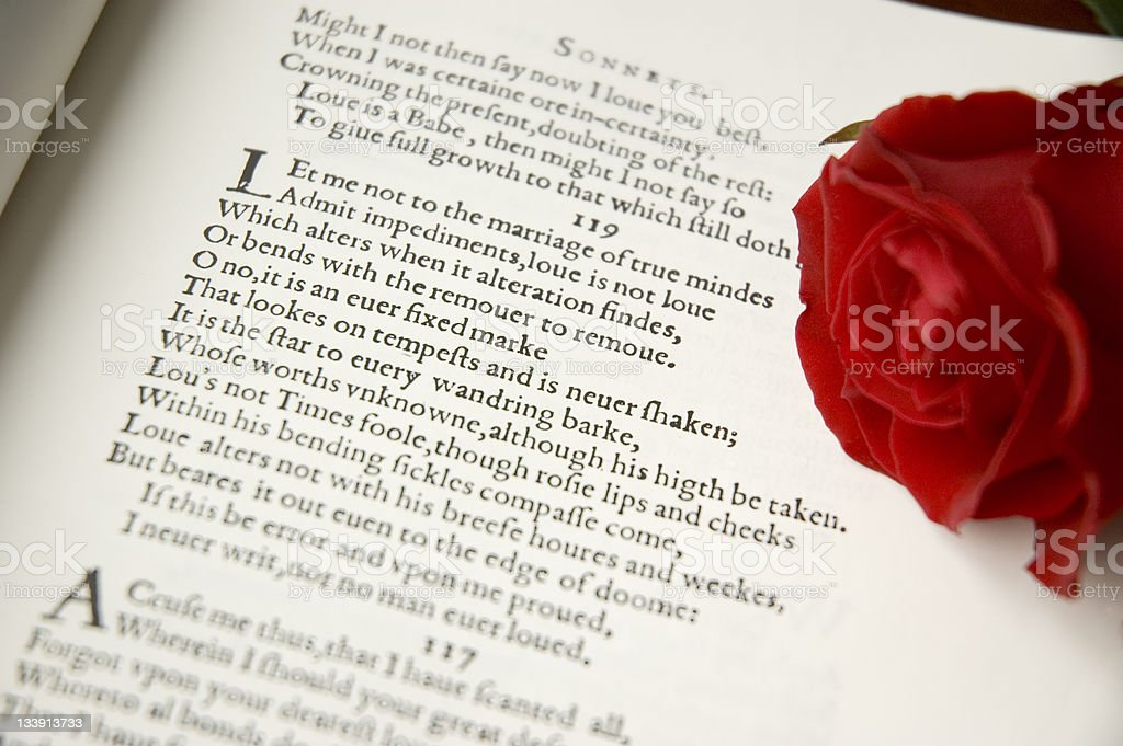 Shakespeare Sonnet royalty-free stock photo