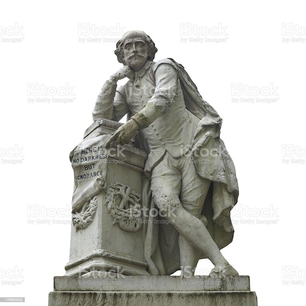 Shakespeare statue royalty-free stock photo